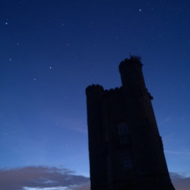 Midsummer night sky